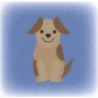 ハートグラムカード犬タイプ